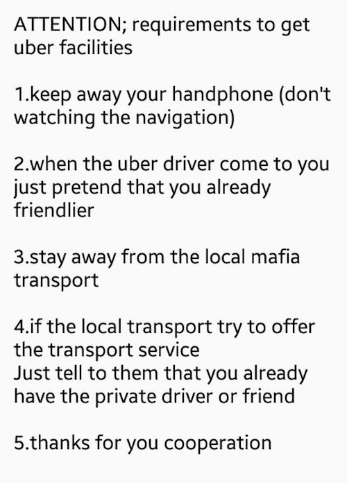 TaxiWarning
