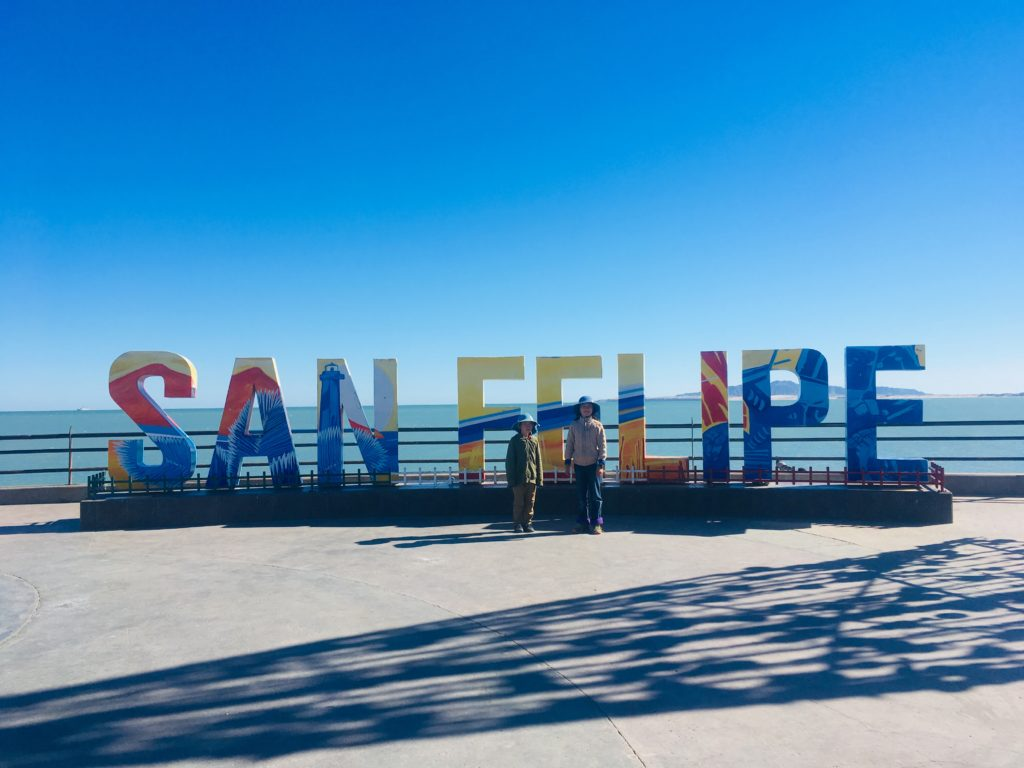 San Felipe. Just about every Mexican town has one of these signs. But it was our first sighting.